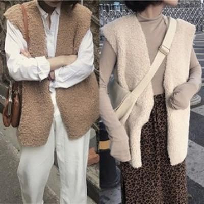アウター コート アウター 冬 アウター アウトレット秋冬 アウター 2カラー 袖無し もこもこ 可愛い 大人 レディース 結婚式 fe-1830