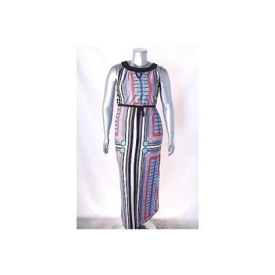 ニューヨークコレクション ドレス ワンピース フォーマル Ny コレクション マルチ プリント ノースリーブ Keyhole Maxi ドレス サイズ M 70LAFO