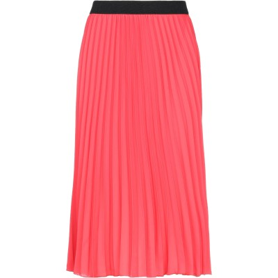 VANESSA SCOTT 7分丈スカート レッド S ポリエステル 100% 7分丈スカート