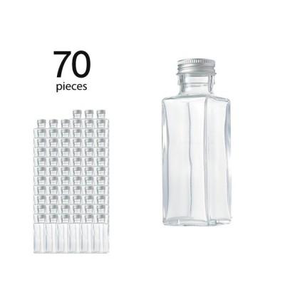 ハーバリウム瓶 スクエア114ml フタ付き 70個セット(取り寄せ)