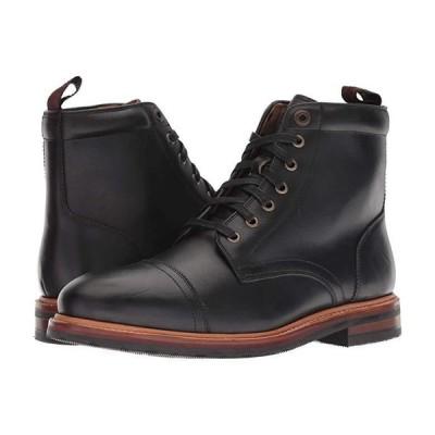 フローシャイム Foundry Cap Toe Lace-Up Boot メンズ ブーツ Black Horween