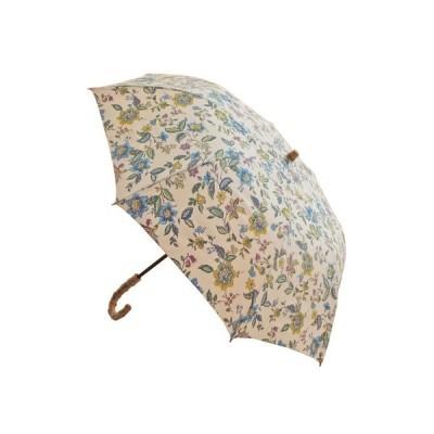 日本製エスクール 綿プリント 晴雨兼用 楽折傘 花柄 新作