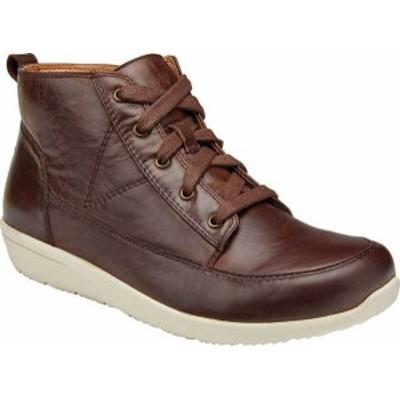 バイオニック レディース スニーカー シューズ Women's Vionic Shawna High Top Brown Leather