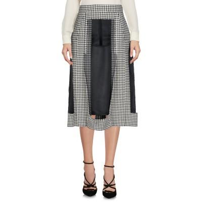 メゾン マルジェラ MAISON MARGIELA 7分丈スカート ブラック 40 バージンウール 100% / レーヨン 7分丈スカート