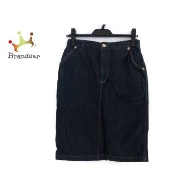 グッチ GUCCI スカート サイズ42 M レディース - ネイビー ひざ丈/デニム     スペシャル特価 20201115