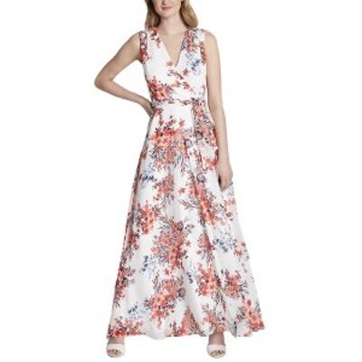 タハリ レディース ワンピース トップス Tahari ASL Plus Dress ivory red bouquet
