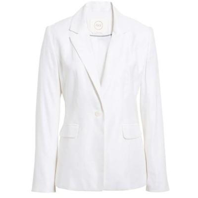 ワンナインオーワン レディース ジャケット・ブルゾン アウター 1901 One-Button Linen Blend Blazer (Regular & Petite)