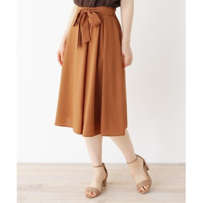 SOUP(スープ) 【大きいサイズあり・13号・15号】夏にぴったりな軽やかミディ丈スカート