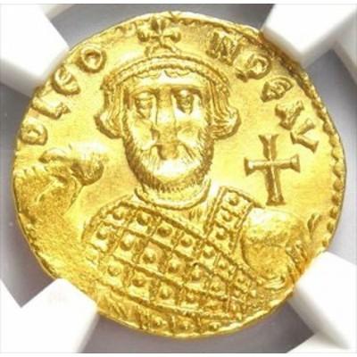 アンティークコイン Byzantine Leontius AV Solidus Gold Coin 695-698 AD