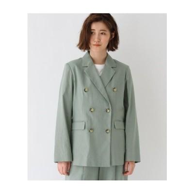 AG by aquagirl(エージー バイ アクアガール)【WEB限定Lサイズあり】コットンリネンダブルボタンジャケット