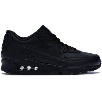 """ナイキ メンズ Nike Air Max 90 """"Leather Black"""" スニーカー BLACK エアマックス90"""