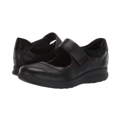 Clarks クラークス レディース 女性用 シューズ 靴 フラット Un Adorn Strap - Black Leather/Suede Combi