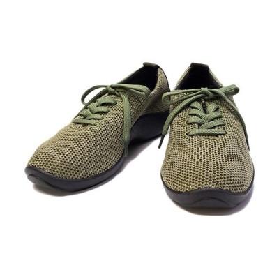 アルコペディコ(ARCOPEDICO) レディース L'ライン ワッフル スニーカー WAFFLE SNEAKERS オリーブ 5061300 08 靴 シューズ カジュアル おしゃれ