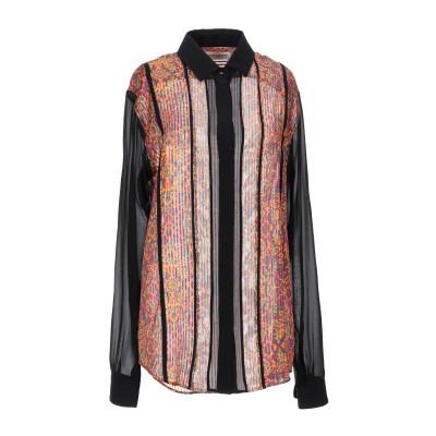 SAINT LAURENT シャツ モーブ 38 シルク 100% / ポリエステル シャツ