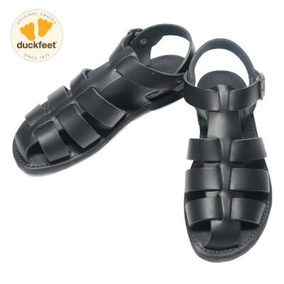 duckfeet ダックフィート DN6051 メンズ グルカサンダル Black Leather ブラック DN6051009