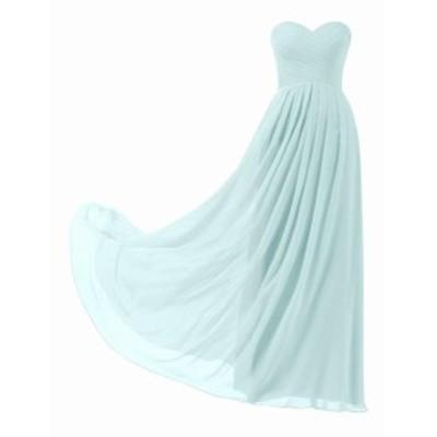 ファッション ドレス Designer Brand Womens Gown Blue Size 14 A-Line Chiffon Strapless
