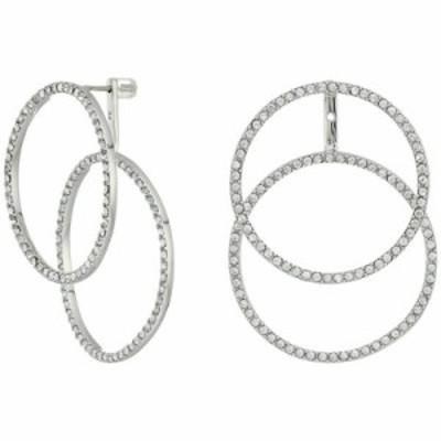 ヴィンス カムート イヤリング・ピアス Double Crystal Pave Front Back Hoop Earrings Silver