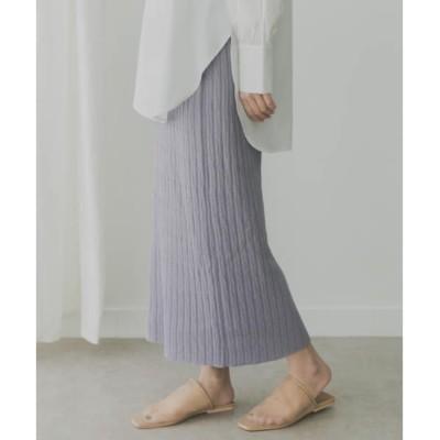 【ケービーエフ/KBF】 KBF KBF+ 柄編みニットスカート