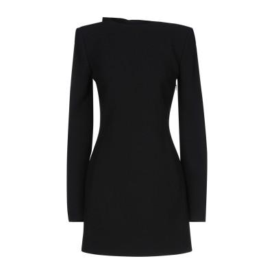 SAINT LAURENT ミニワンピース&ドレス ブラック 34 ウール 100% / ポリエステル ミニワンピース&ドレス