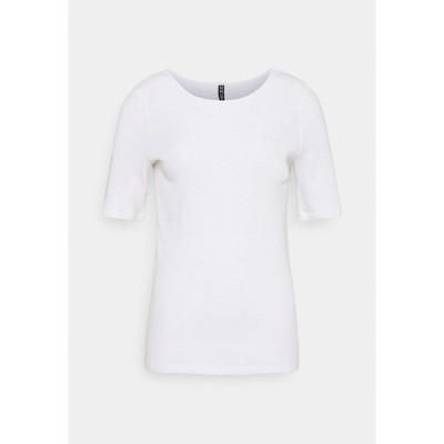 ピーシーズ トール Tシャツ レディース トップス PCLASA TEE LOUNGE  - Basic T-shirt - bright white