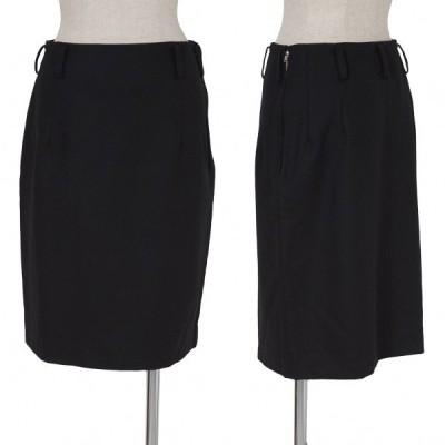 ワイズY's ベルトループウールスカート 黒M 【レディース】