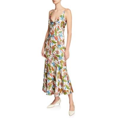 ガブリエラ ハースト レディース ワンピース トップス Bridget Tropical Print Sleeveless V-Neck Dress