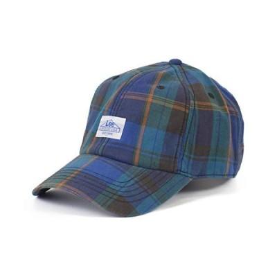 リー(Lee) マドラスチェック ロゴ キャップ ローキャップ 帽子 CAP ミニロゴ 春 夏 MADRAS CHECK (01 ブラック)