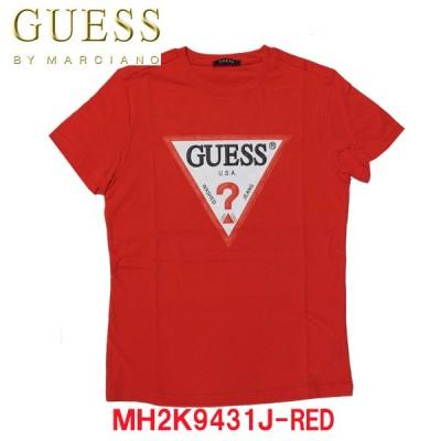 数量限定 GUESS/ゲス メンズ レディース ユニセックストライアングルロゴTシャツ レッドMサイズ/ XLサイズ MH2K9431J-RED