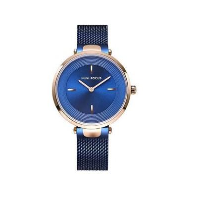 MINI FOCUS 腕時計 レディース シンプル ダイヤル 合金 クォーツ レディース 腕時計 ステンレススチールバ