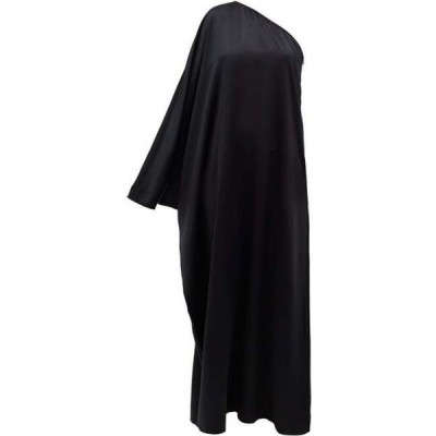 ラ コレクション La Collection レディース パーティードレス ワンショルダー ワンピース・ドレス Maui One-Shoulder Silk-Satin Dress Black