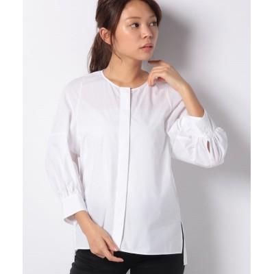 【アナイ アウトレット】 タイプライタークルーネックシャツ レディース ホワイト 38 ANAYI OUTLET
