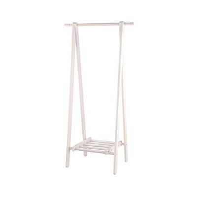 ぼん家具 ハンガーラック 木製 折りたたみ 幅80.2×奥45×高148cm 省スペース 服 ホワイト