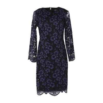 DKNY ミニワンピース&ドレス ブルー 4 ナイロン 73% / コットン 27% ミニワンピース&ドレス