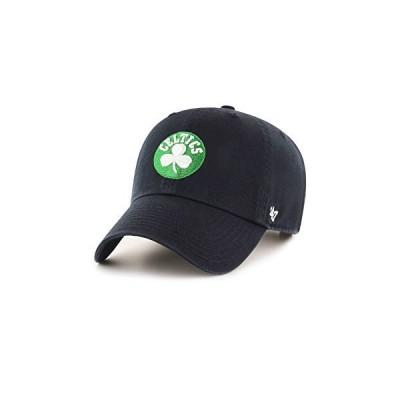 '47 Brand ボストン・セルティックス ネオン クリーンアップ スローチ フィット 帽子 One Size ブラック