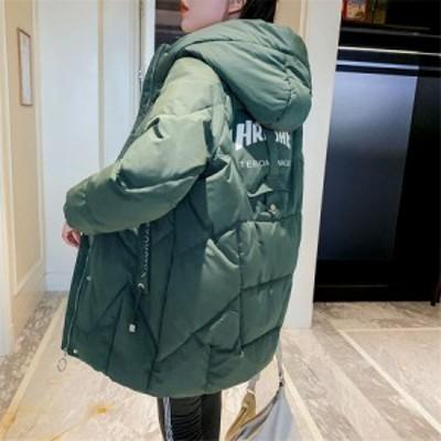 中綿コート中綿ジャケット ロング丈 冬用 レディース フード付き リブ袖口 カジュアル アウター 大きいサイズ 暖かい 防風防寒 オシャレ