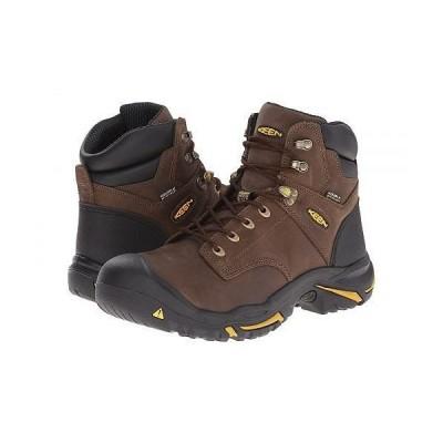 Keen Utility キーン メンズ 男性用 シューズ 靴 ブーツ 安全靴 ワーカーブーツ MT Vernon Mid - Cascade Brown