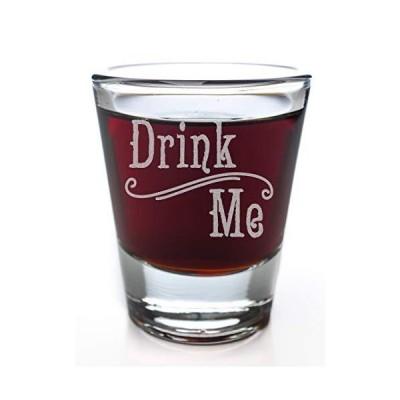 【並行輸入品】Drink Me Alice in Wonderland Swirl Style Shot Glass by Alder House M