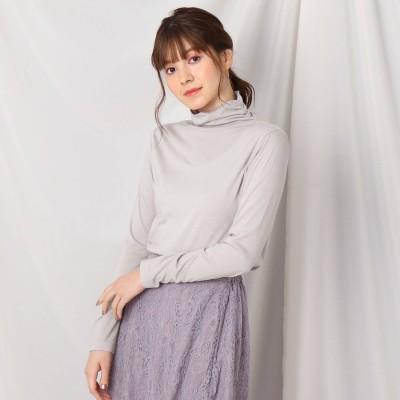 クチュール ブローチ Couture brooch シャーリングタートルプルオーバー (ベビーピンク)