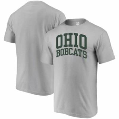 Alta Gracia アルタ グラシア スポーツ用品  Alta Gracia (Fair Trade) Ohio Bobcats Heathered Gray Arched Wordmark T-Sh