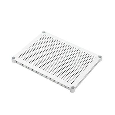 アイリスオーヤマ メタルラック パンチング棚板 ホワイト ポール径25mm 幅61×奥行46cm 耐荷重50kg MR-61TP