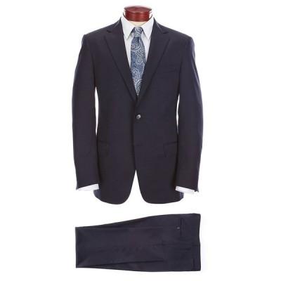 ハートシャファネールマークス メンズ ジャケット&ブルゾン アウター Chicago Classic Fit Solid Wool Blend Stretch Suit Navy