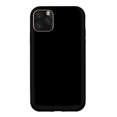 スマホケース iPhone11 Pro Max XS XR X 8 7 耐衝撃吸収TPUケース シンプル カラー ブラック 黒 モノクロ