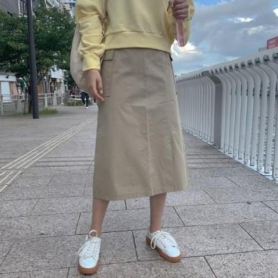 レディース スカート Two-line pocket skirt