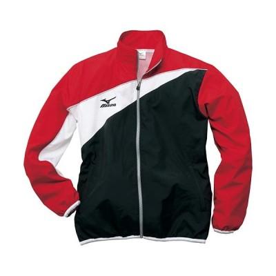ミズノ(MIZUNO) メンズ レディース トレーニングクロスシャツ ブラック×レッド N2JC7020 96 長袖 ジャージ トップス トレーニングウェア ウォームアップ