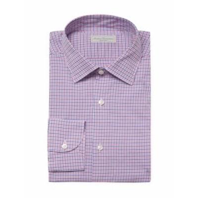 アンティカキャメリア Men Clothing Check Normal Point Collar Dress Shirt