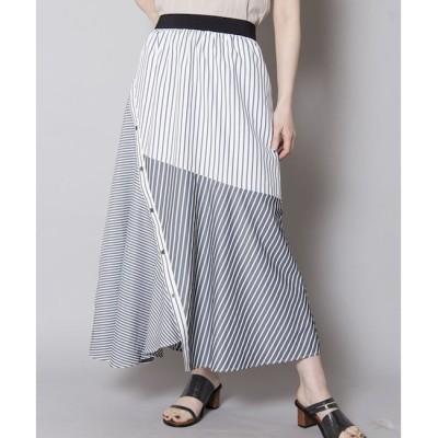 【オズモーシス/OSMOSIS】 アシンメトリー切替スカート