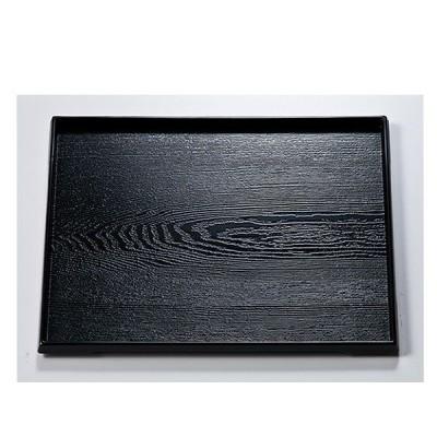 / 越前漆器 尺1 ダイヤ木目盆 黒 /和食器