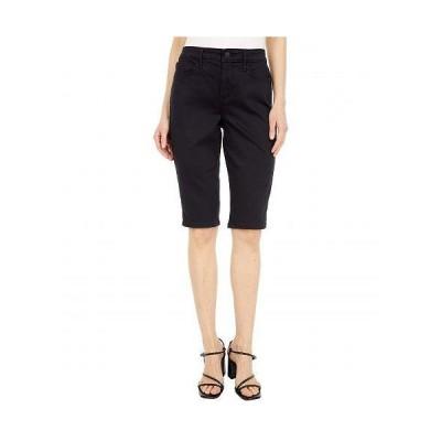 NYDJ エヌワイディージェー レディース 女性用 ファッション ショートパンツ 短パン Knee Length Denim Capris in Black - Black