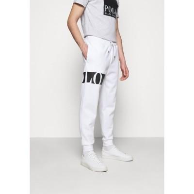 ラルフローレン カジュアルパンツ メンズ ボトムス DOUBLE TECH - Tracksuit bottoms - white