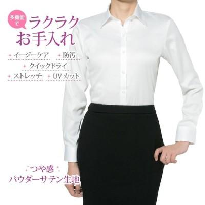 レディースシャツ 長袖 形態安定 標準型 PLATEAU P31PLA555